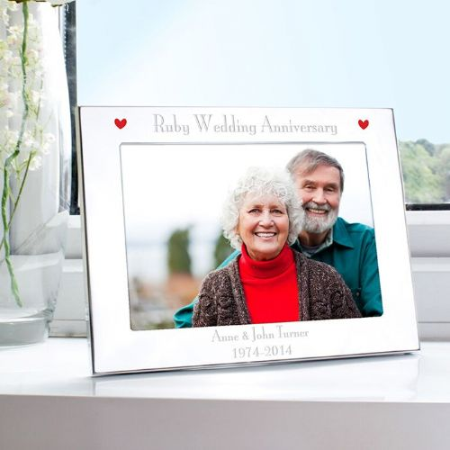 Ruby Anniversary Landscape Photo Frame